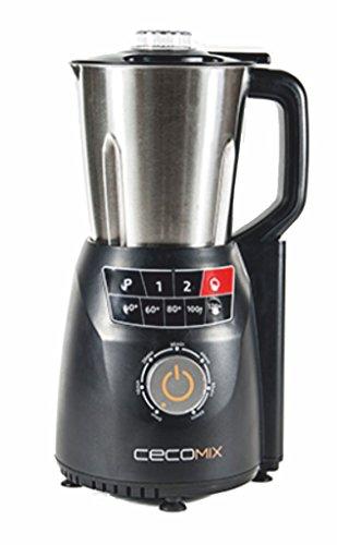 Cecomix Robot Compact Pro Que Cocina y tritura, 1250 W, 2.8 litros, Acero Inoxidable|PU, Plata