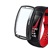 Ruentech - Carcasa Compatible con Samsung Gear Fit 2 Pro, Color Negro