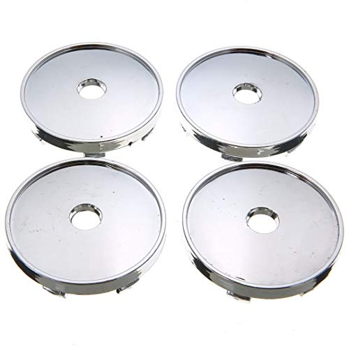 WANGXI Cubos centrales de Rueda de Coche Plateados de 60mm/56mm, Emblema de Tapa de plástico ABS, Cubierta de Llantas de Coche Universal, para Audi, para Honda, para BMW