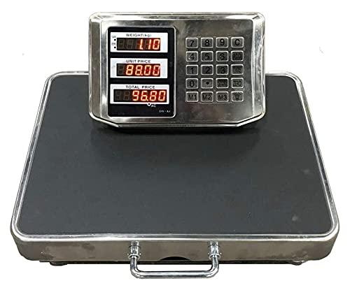 M3 Decorium 200 kg / 50 g de Escala electrónica Digital Industria de Acero Inoxidable Escala de pesaje precisa Escala de Precios inalámbrico Plataforma Dividida
