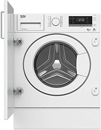 Beko HITV8733B0 Integrado Carga frontal A Blanco lavadora - Lavadora-secadora (Carga frontal,