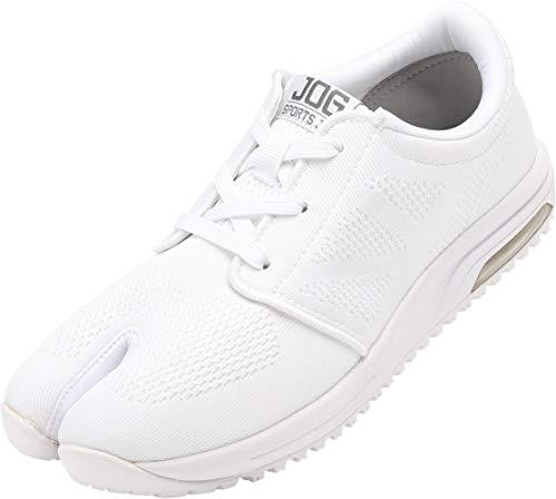 スポーツジョグAIR (白・28.0cm) エアークッション 地下足袋スニーカー(靴ひもタイプ)