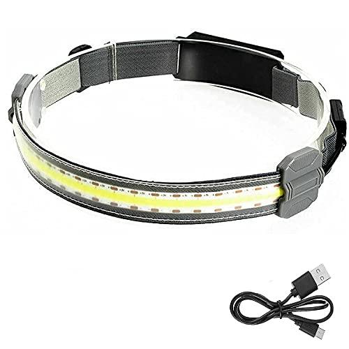Iksvmsis Ajustable Linterna Cabeza,Frontales led Alta Potencia 3 Modos de Luz luz Tenue Frontal LED,Linterna Frontal led Alta Potencia Adecuados para Niños Camping, Excursión