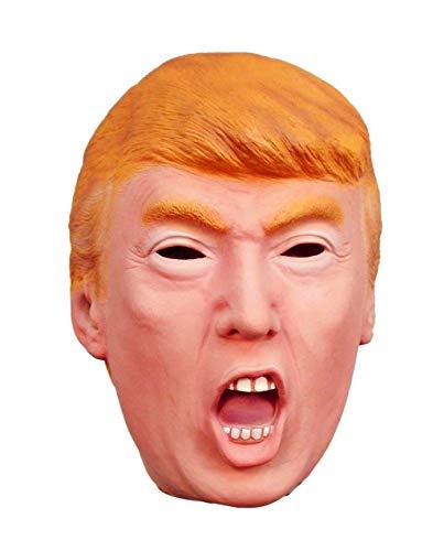 ZYEZI Donald Trump Latex Maske, Kostüm Milliardär Präsident Politiker Vollkopf(Schrei)
