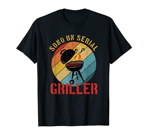 Uomo Sono un Serial Griller I Griglia Birra Barbecue Divertente Maglietta