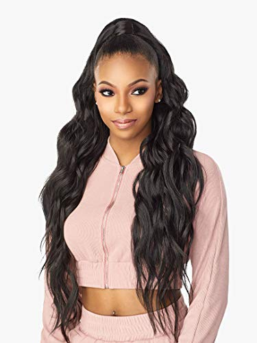 Sensationnel INSTANT UP & DOWN Half Wig Wrapped Ponytails Long Length Wave Easy Styling Heat Resistant Synthetic Fiber Pony Wrap Sleek Finish - UD 5 (1)