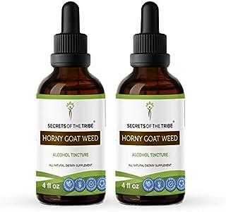 Secrets Of The Tribe Horny Goat Weed Alcohol Tincture (Liquid Drops) 669 mg Organic Horny Goat Weed (Epimedium Grandifloru...