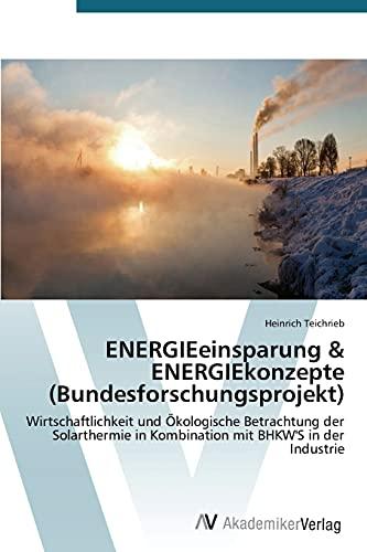 ENERGIEeinsparung & ENERGIEkonzepte (Bundesforschungsprojekt):...