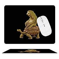 Sloth Riding Turtle デスクマッ ト マウスマット ゲーミングマウスパッド キーボードマット PC机 マット超大型 革 防水 滑り止め レーザー 光学式マウス ゴムファッ