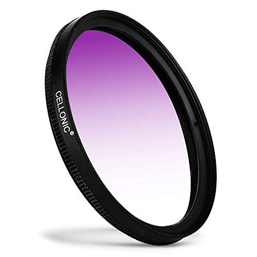 CELLONIC® Filtro gradiente Color Púrpura Compatible con Tamron - Ø 62mm