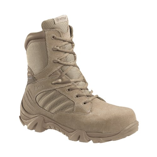 Bates Men's GX-8 Composite Toe Side Zip Work Boot, Desert, 11.5 M US