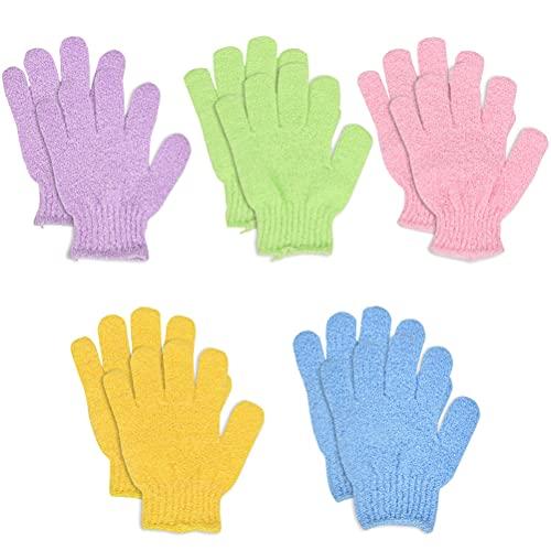 N\\A 5 Stück Peeling Handschuhe Waschhandschuh für Peeling Körper Handschuhe für Herren und Damen für Dusche Körper Spa Massage Entferner Abgestorbener Hautzellen
