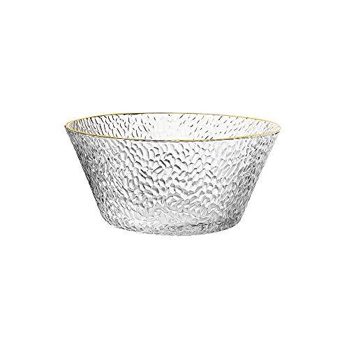 ZZYJYALG Cuenco Estilo nórdico Duradero recipientes de Vidrio, la Gota de Agua en Forma de Cereales for el Desayuno recipientes de Vidrio, harina de preparación Contenedores, Ensalada Congelador-Safe