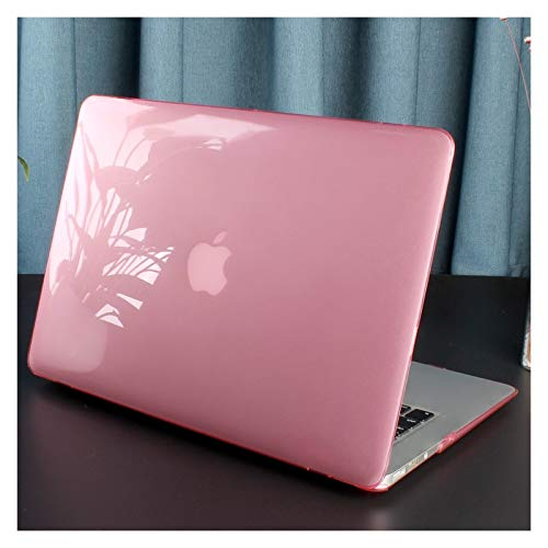 XXY For New MacBook Pro Air 11 12 13 15 16 Inch A2289 A2179 A2337 Matte Clear Laptop Case Keyboard Cover+Screen Film (Color : Crystal Pink, Size : 11 inch)