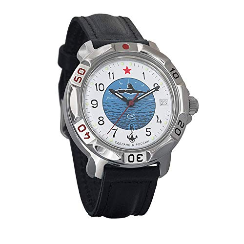 Vostok KOMANDIRSKIE 811055/2414un militar ruso de las fuerzas especiales reloj U-Boot submarino blanco