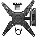 TV Wall Mount Full Motion Single Stud Articulating TV Bracket for Most 26-55' LED, LCD, OLED, Flat Screen,...