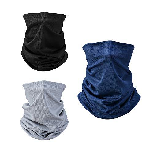 Zorara Multifunktionstuch, 3 Stücks Halstuch Schlauchtuch Atmungsaktiv, Mundschutz Tuch Multifunktion Stirnband Herren/Damen für Yoga Laufen Wandern Radfahren Motorradfahren