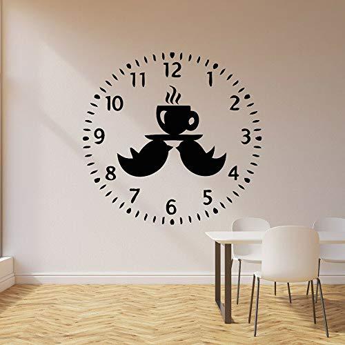 Tianpengyuanshuai muurstickers van vinyl, vogel, ontspanning, tijd om thee, keuken, koffie, decoratie, afneembaar en creatief