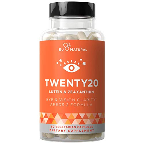 TWENTY20 AREDS 2 Eye Vitamins – Macular Health, Eye Strain, Dry Eye and Vision Health – Lutein Zeaxanthin, Bilberry Extract – 60 Vegetarian Soft Capsules