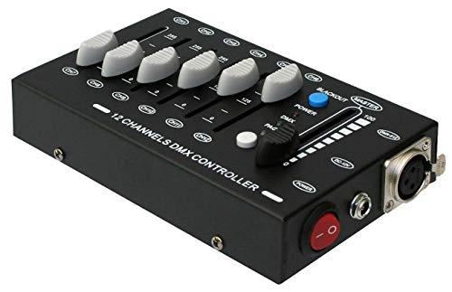 E-Lektron C-12 mini DMX Controller 12-Kanal Licht Steuerpult Lichtsteuerung