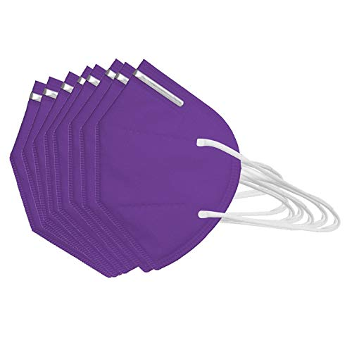 50Pcs Disposаble_N95_Face Mẵsk FDẴ Certified Coronàvịrụs Protectịon Adult's,Efficiency≥95% - 180 ° and Air Permeability - 5-Ply High Filtration Fàce Màsk _ KF94 Purple