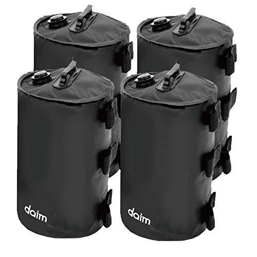DAIM マルチウェイトバンドテープ付 ブラック 4個入り 注水式 倒れ防止 ブラック 10L バンドテープ付 取っ手付 (10Lバンド付ブラック 4個セット)