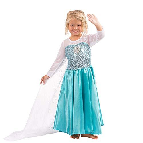 Butterfly Craze Girls Snow Queen Costume Snow Princess Dress - 3 Years