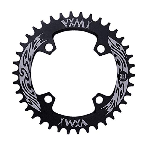 Schmales breites Kettenblatt Geschwindigkeit Fahrrad Kettenblatt, BCD 96MM Kettenblatt MTB Fahrrad Schmale Breite Runde Oval Einzel Kette Ring 32t / 34t / 36t / 38t Rennrad, Mountainbike, BMX MTB Bik