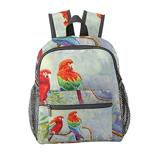 Watercolor Bird Backpack for Boys and Girls Perfect Size for Travel