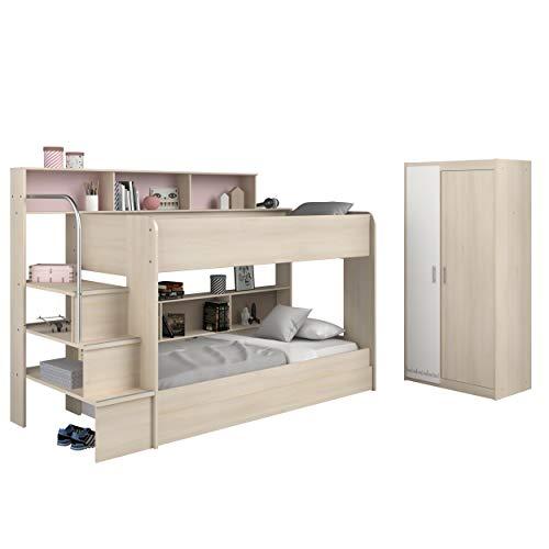 Parisot GRASEKAMP Qualität seit 1972 Etagenbett mit Bettschubkasten und Schrank - Bibop 41