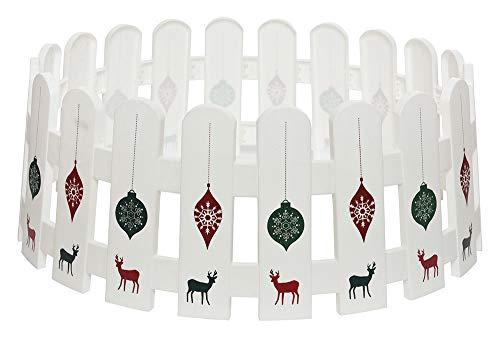 zeitzone Abdeckung für Christbaumständer Zaun Rentier Verkleidung Hülle Flexibel