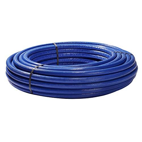 H2O-Flex Aluverbundrohr, Mehrschichtverbundrohr, 6 mm Isolierung blau, 16 x 2 mm, 50 m Rolle, DVGW Rohr