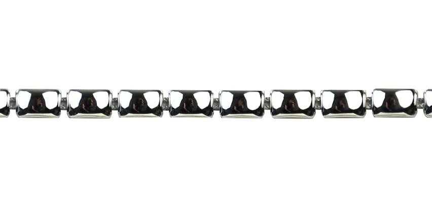 Belagio Enterprises 1/4-inch Plastic Coated Rectangle Stud Trim 20 Yards, Silver
