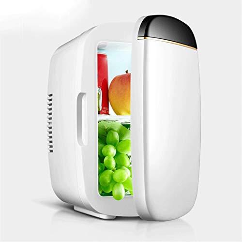 Mini Nevera Mini Refrigerador Mini Fridge 6 L / 8 CAN Frigorífico compacto portátil Nevera pequeña Refrigerador eléctrico y calentador para habitaciones Camping de autos de oficina ( Color : White )