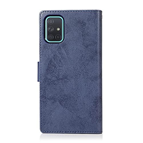 Teléfono Flip Funda Para Samsung Galaxy A71 Funda de teléfono móvil, 2 en 1 caja de teléfono móvil magnético de la PU Caja de teléfono retro del teléfono móvil, adecuado para la caja del teléfono Sams