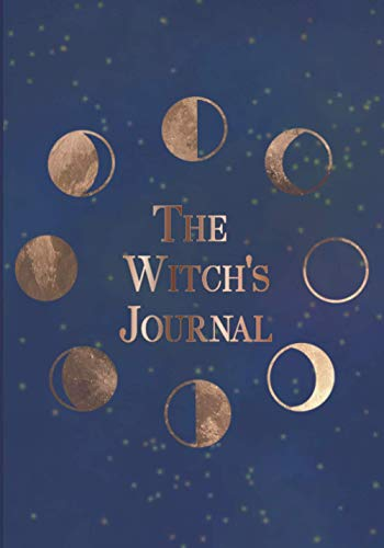 The Witch's Journal: Moon Cycle in golden colors.