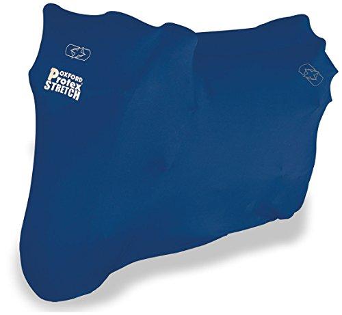 Oxford PROTEX Premium Stretch-Passform Innenraum Motorrad Abdeckung - Blau, XL