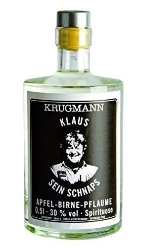 Klaus sein Schnaps Apfel-Birne-Pflaume Spirituose 30% vol alc. (1x0,5L)