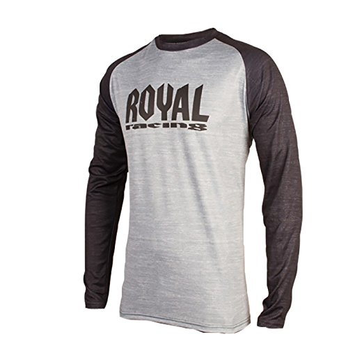 Royal Racing Maillot Heritage Manches Longues-Gris/Noir-XS Homme, FR Taille Fabricant