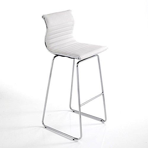 Tomasucci Task Barhocker, Metall, Weiß, 39x 31x 75cm