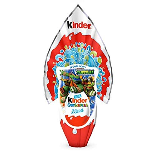 Uovo di cioccolato Kinder Gran Sorpresa Tartarughe Ninja con fantastica sorpresa 320 gr
