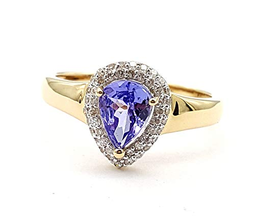 Harry Ivens AAA Tansanit Ring 48 Diamanten 1,12 ct. 585 Gelbgold 60-19,0 mm
