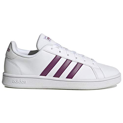 Adidas Women's Grand Court Base Sneakers, FTWWHT/CHEMET/DOVGRY, Numeric_8