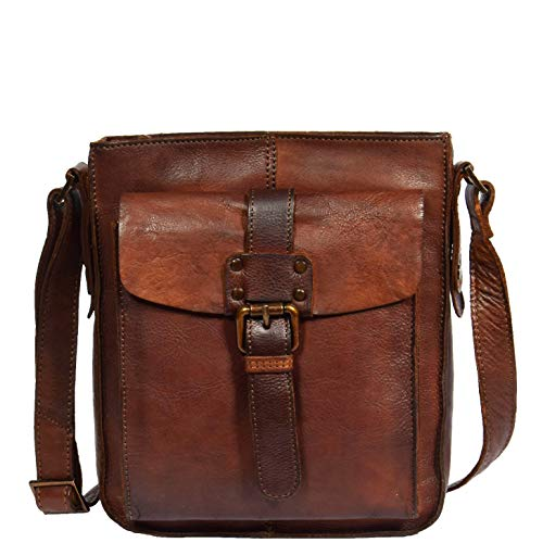Real Leather Vintage Body Bag Classic Rust DRLB123