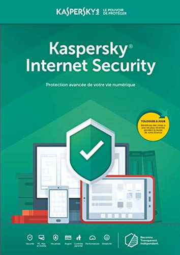 Kaspersky Internet Security | 5 Appareils - 1 Mois | PC/Mac | Subscription