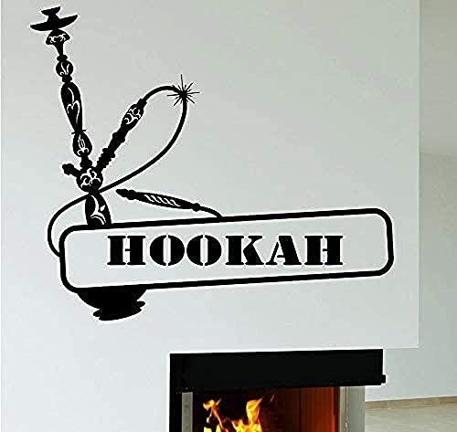 Hukahn Wandtattoo Shisha Rauch Rauch Vinyl Wandaufkleber Dekoration Zubehör Zubehör für Wohnzimmer Kunst Wandbild 65x57cm