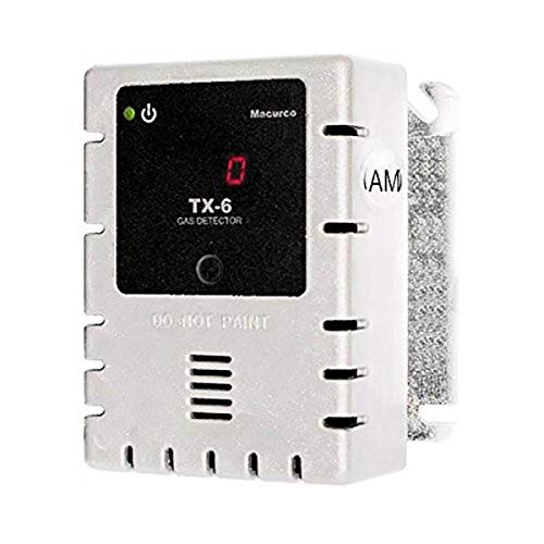 Macurco TX-6-AM WHITE Ammonia NH3 (Low Voltage) Fixed Gas Detector Controller Transducer with White Housing