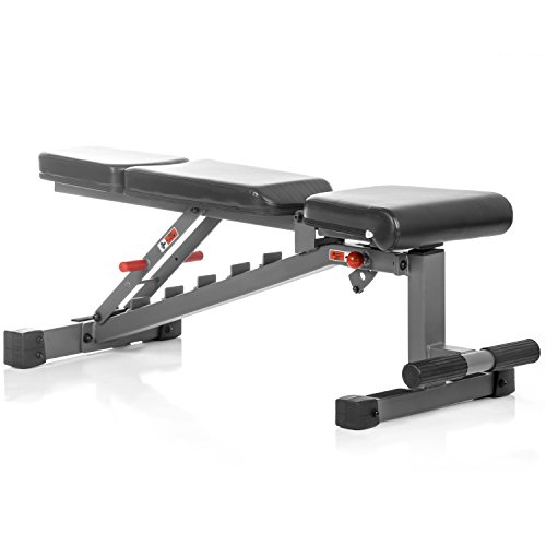 XMark Adjustable FID Weight Bench, 11-Gauge, 1500 lb. Capacity, 7 Back Pad Positions from Decline to Full Military Press Position, Ergonomic 3 Position Adjustable Seat