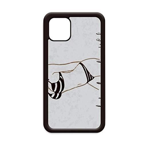 Bikini Beauty Illustratie Zwart Patroon voor Apple iPhone 11 Pro Max Cover Apple mobiele telefoonhoesje Shell, for iPhone11 Pro