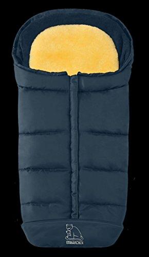 Eisbärchen 7975 Komfort 2-in-1-Fußsack mit herausnehmbarer Lammfell-Einlage (marineblau)